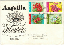 ANGUILLA - 1969 - Caribbean Flowers - FDC - Anguilla (1968-...)