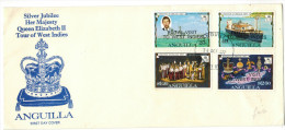 ANGUILLA - 1977 - SILVER JUBILEE - ROYAL VISIT TOUR OF WEST INDIES - FDC - Anguilla (1968-...)