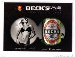 BECK`S  Beer # 1 ( Croatia - Mint Erotic Postcard ) Becks Biere Bier Cerveza Birra Pils Beers Biers Drink Beverage - Advertising