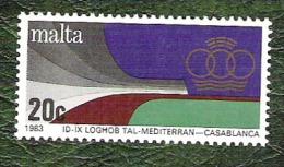 MALTE - YT N°673 - Jeux Méditerranéens De Casablanca / Sports - 1983 - Neuf - Malta
