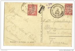 Oblitération Bonsecours Belgique Basilique Taxe 2 X 30 Centimes Pour 50 - Taxes