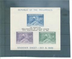 FILIPINAS-DERECHOS HUMANOS ( H.B. 6)  SIN DENTAR (1963) MICHEL - Filipinas