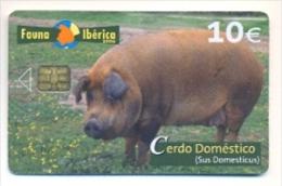 Fauna Ibérica CERDO DOMÉSTICO Usada Perfecta Conservación, CHIP I - Emissions Basiques