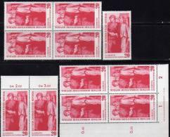 Befreiung Aus Dem KZ 1960 DDR 764,ZD,DV+ 4-Block ** 8€ Buchenwald Weimar Soldat Der Rote Armee SU Hb Ms Sheet Bf Germany - [6] République Démocratique