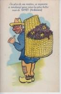 Carte à Système Givet - En Plus De Ces Raisins ... (avec Dépliant Accordéon Complet Dans La Hotte) - Givet