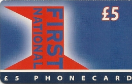 CARTE-PREPAYEE-GB-5£-INTEROUTE-FIRST NATIONAL-FineTBE-RARE - Royaume-Uni