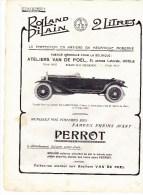 AUTOMOBILES  ROLLAND PILLAIN - Vieux Papiers