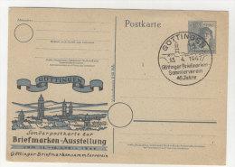 Gemeinschaftsausgaben Ganzsache P 962 Zudruck G�ttingen Briefmarkenausstellung 1947