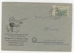 Provinz Sachsen Michel No. 85 A auf Brief verz�hnt