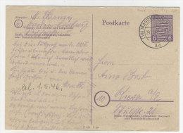 Provinz Sachsen Ganzsache P 10 gebraucht
