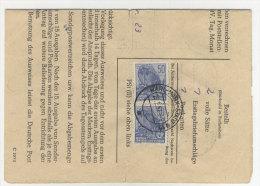 DDR Michel No. 584 A auf Sammlerausweis MeF