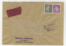 DDR Dienst Michel No. 14 , 22 auf Brief