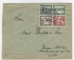Deutsches Reich ZD W 115 , 121 auf Brief