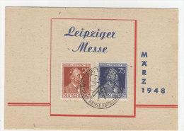Gemeinschaftsausgaben Michel No. 963 - 964 auf Karte Messe 1948