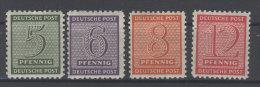 West Sachsen Michel No. 120 - 123 X ** postfrisch / No. 121 , 123 gepr�ft BPP