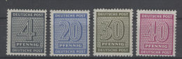 West Sachsen Michel No. 127 , 134 , 135 , 136 Z ** postfrisch / No. 134 Z gepr�ft BPP
