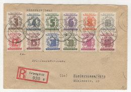West Sachsen Michel No. 136 - 149 auf Brief