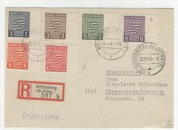 Provinz Sachsen Michel No. 66 - 71 X auf Karte