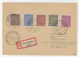 Provinz Sachsen Michel No. 78 , 81 - 84 auf Karte