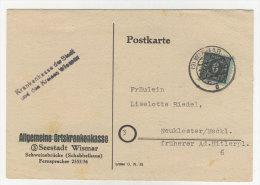 Mecklenburg Vorpommern Michel No. 8 auf Karte