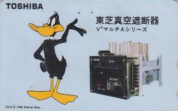 Rare Télécarte Japon - BD Comics - WARNER BROS - Canard DAFFY DUCK - Japan Phonecard Telefonkarte - Comics