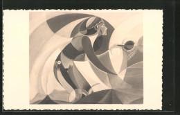 Künstler-AK Sign. Kazys Simonis, Frau Im Kleid, Russische Kunst - Other Illustrators