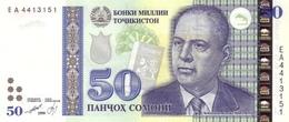 TAJIKISTAN P. 18a 50 S 1999 UNC - Tadzjikistan