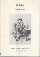 Catalogue D'une Vingtaine De Pages Drouot Le Tabac Les Drogues - Books