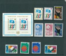 VENTE  LOT  No   0 3 4 TIMBRES   Des   UNITED NATIONS     STAMPS  M N H * *   1975 - New-York - Siège De L'ONU