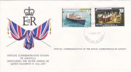 Anguilla 1977 Queen Elizabeth Silver Jubilee FDC - Anguilla (1968-...)