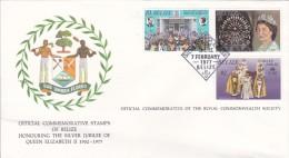 Belize 1977 Queen Elizabeth Silver Jubilee FDC - Belize (1973-...)