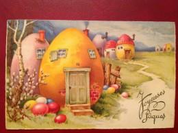 Joyeuses Pâques Village Des Oeufs - Pasqua
