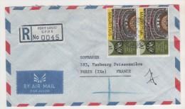 ILE MAURICE , MAURITIUS - THEATRE DE PORT LOUIS EN PAIRE  - LETTRE POUR LA FRANCE 1972 - VOIR LE SCANNER - Maurice (1968-...)
