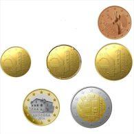 10x ANDORRA 2 Y 1€ 50, 20, 10, 5 CENT SIN CIRCULAR - Andorra