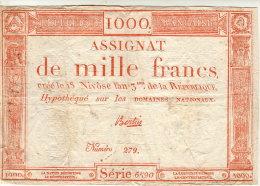 BILLET ASSIGNAT DE 1000 FRANCS - Assignate