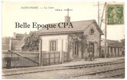 28 - SAINT-PREST - La Gare / Avec Porteur De Bagages ++++ Édition Gombert +++ Vers Bonneval, 1920 +++ RARE - France
