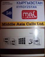 Rare Magnetic Card Carte Karte  From KYRGYZSTAN Kirghizistan Kirgisistan