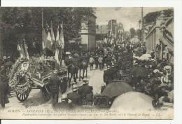 ROUEN..fêtes Normandes , 18- 21 Juin 1909 Funérailles Solennelles Des Quatre Pompiers Morts Au Feu.. En Route Vers Le Ch - Rouen
