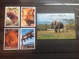 Sao Tome En Principe - MNH / Postfris - Complete Set 25 Jaar Greenpeace 1996 CAT.val. €27,50 - Sao Tome En Principe