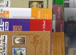 12 Verschiedene Briefmarken Rundschau MICHEL Neu 60€ New Stamps Of The World Catalogue And Magacine Of Germany - Zonder Classificatie