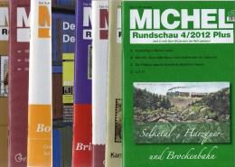 MICHEL 8 Verschiedene Briefmarken Rundschau Neu 40€ New Stamps Of The World Catalogue And Magacine Of Germany - Magazines & Newspapers