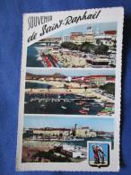 Souvenir De Saint Raphael. Multi Vues. Ajax 1678. Voyage 1958. - Saint-Raphaël