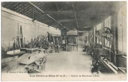 BILLOM ECOLE MILITAIRE- ATELIER MACHINES A BOIS -TAMPON BILLOM-MILITARIA PUY DE DOME - A SAISIR - PETIT PRIX -BON ETAT - - France