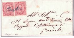 Collettorie Postali - Cover From Oniferi  ( Provincia Di Sassari ) Affr. 20 C. - 1861-78 Vittorio Emanuele II