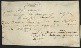 """L. de Vlamerie 1785 man. """"Pay� � l'expr�s cinq escalins aiant du revenir de la nuit"""" pour Teuven. RR"""