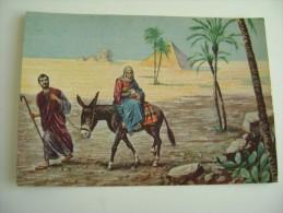 GESU'  FUGA IN EGITTO    LA  NOTTE SANTA  LIETI AUGURI DAL SIGNORE NATALE NOEL   ILLUSTRATA  RELIGIONE - Christmas
