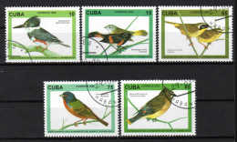 KUBA 1996 - Vögel , Eisvogel / 100 Todestag V. Juan C.Gundlach - MiNr. 3910-3914 Kompl. Satz - Oiseaux