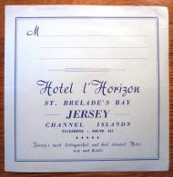 HOTEL MOTOR HORIZON BRELADE GUERNSEY LONDON UK ENGLAND GREAT BRITAIN STICKER DECAL LUGGAGE LABEL ETIQUETTE AUFKLEBER - Hotel Labels