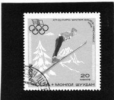 1968  Mongolia - Olimpiadi Di Grenoble - Trampolino - Inverno1968: Grenoble