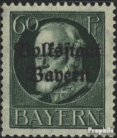 Bavière 126II Un Neuf Avec Gomme Originale 1919 King Ludwig Avec Surcharge - Bayern (Baviera)